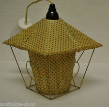 originale des années 1950 60er Lampe suspendue Plafonnier abat-jour souple