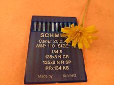 10 SINGER 20U SCHMETZ LEATHER  MACHINE SEWING NEEDLES 134 S PFx134 KS #18