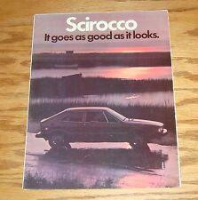 Original 1978 Volkswagen VW Scirocco Foldout Sales Brochure Large Poster 78