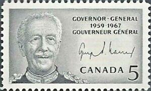Canada    # 474    George Vanier Governor General    New Issue 1967 Pristine Gum