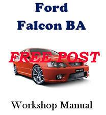Ford Falcon BA 2002 - 2005 Sedan Ute XT to XR LPG Workshop Manual on CD