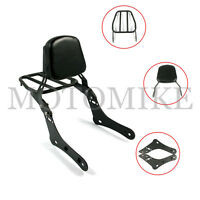 Backrest Sissy Bar + Luggage Rack Pad For Vulcan S 650 VN650 15-17