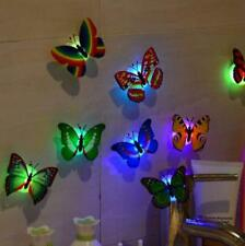 Vecan Pro 8 Pcs Wall Stickers Butterfly LED Lights Wall Stickers 3D House Decor.