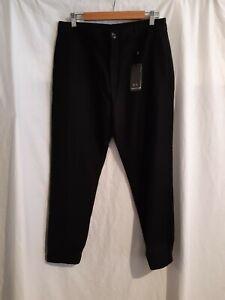 New Authentic Armani Exchange mens black lightweight casual pants size W32 L32