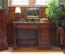 Baumhaus La Roque Single Pedestal Computer Desk - Solid Mahogany Wood