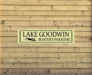 Personalized Lake House Metal Sign Custom Vacation Home Plaque fishing cabin L21