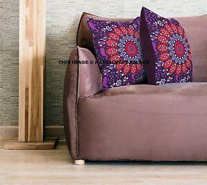 "Indian Gypsy Peacock Mandala Bed Cushion Cover Hippie Bohemian Pillow Case 18"""