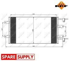 CONDENSER, AIR CONDITIONING FOR NISSAN OPEL RENAULT NRF 35505