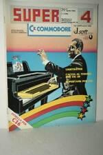 RIVISTA SUPER COMMODORE ANNO 2 NUMERO 4 APRILE 1985 USATA BUONO ED ITA FR1 54760