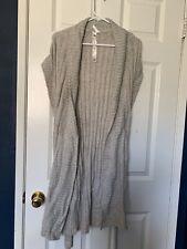 Women's Sleeveless Sweater Vest Gray Evie Size 12