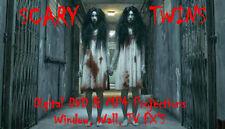 Scary Twins Halloween Window Projector Decoration Digital MP4 Disc FX