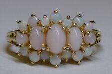 Ladies 9ct Gold Pink Opal ring **SIZE L**