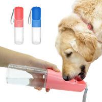 Portable Pet Dog Water Bottle Dispenser for Dog Puppy Travel Feeder Tray Bowl