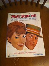 1963 Songs From Walt Disney MARY POPPINS Souvenir Song Album Book Julie Andrews