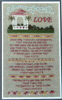 A Stitch and a Prayer Love Sampler Counted Cross Stitch Pattern