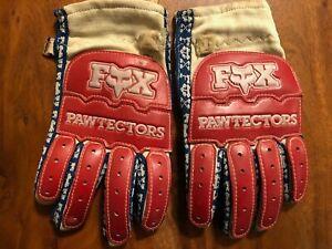 Vintage Fox Motocross Pawtectors Gloves - size 10