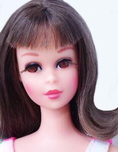 STUNNING Vintage Brunette Bendable Leg Francie Doll MINT