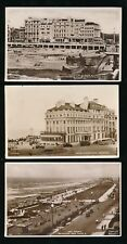 Sussex BRIGHTON sea front views x5 RP PPCs used c1920/50s