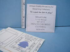 Miniature Children's Clothing Box Kits Set of (3) Looking Glass Minis - 1/12th