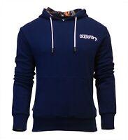 Superdry Mens Super 5's Long Sleeve Hoodie Overhead Sweatshirt Navy Blue