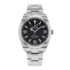 Rolex Men's Stainless Steel Case Round Wristwatches