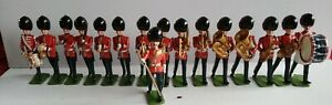 Lead Soldiers Coldstream Guards Band Marching. X16 unbranded