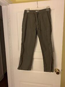 REI Womens Size 6 UPF 30+ Nylon Pants Hiking Lightweight Drawstring Olive