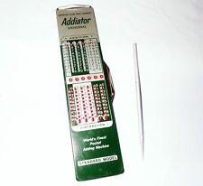 NOS Vintage Addiator Universal Pocket Adding Machine with Stylus West Germany