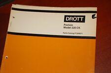 CASE POCLAIN DROTT 220 CK Excavator Trackhoe Crawler Parts Manual Book catalog