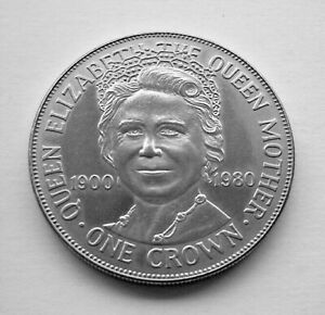 1980 THE QUEEN MOTHER 80th BIRTHDAY ISLE OF MAN CROWN - IoM MANX