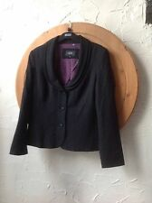 🍀🍀🍀 Per Una Speziale@M&S UK 12 Black Jacket  Lovely Purple Spot Lining-party