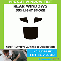 Pre Cut Window Tint - Aston Martin V8 Vantage Coupe 2007-2016 - 35% Light Rear