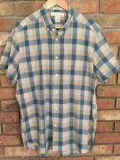 H&M Men's Short Sleeved Checked Shirt Size L Regular
