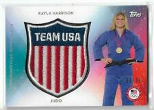SWEET 2016 TOPPS OLYMPIC KAYLA HARRISON CREST PATCH CARD  /99 USA JUDO ~ UFC MMA