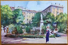 cartolina illustrata SALSOMAGGIORE Grand Hotel des Termes Monumento Romagnosi