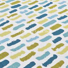 Blanco Verde Azul trazos de pintura inspirado patrón nuevo tejido suave tela de tapicería