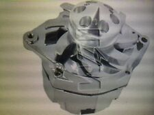CHEVY GM 140 HIGH AMP CHROME 1-WIRE ALTERNATOR WITH BILLET FAN & V-GROOVE PULLEY