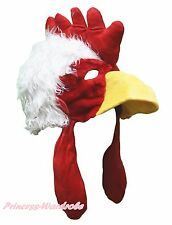 Cock Rooster Chicken Costume Warm Hat Cap Head Mask