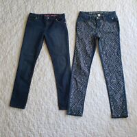 Justice Childrens Place Girls Sz 12 Jeans Lot Rhinestone Bedazzled Super Skinny