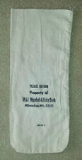 M&I Marshall and Ilsley Bank, Milwaukee WI  Cloth Bank Coin Bags  USED  Style #3