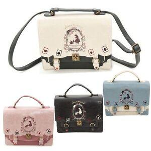 Alice in Wonderland Handbags Shoulder Bag Backpack JK Uniform Lolita Vintage UK