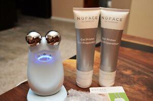 NuFACE Trinity Pro Seafoam Blue with ELE Facial Toning Device Kit 2 tubes Primer
