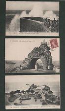 3 Vintage c.1920's France Postcards - Biarritz Esplanade & Le Rocher