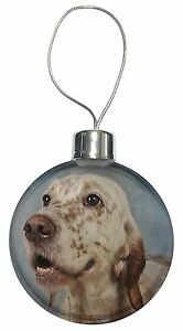 English Setter Dog Christmas Tree Bauble Decoration Gift, AD-ES3CB