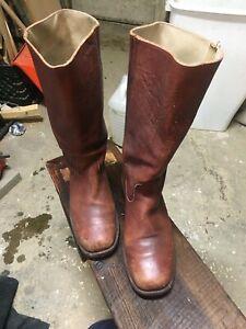 Vintage Men's Frye Campus Boots Brown 10D