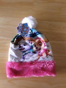 Nickelodeon Girls  Paw Patrol Mix Pom Pom Beanie Hat One Size (ideal gift!)