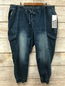 Almost Famous Cargo Jeans Womens Size 20 Stretch Pull On Jogger Cargo Jeans New