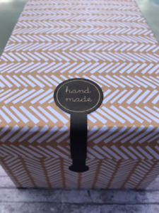 50 Cake Box Stickers Hand Made 10cm Long Style Craft Packaging Party Gift Wrap
