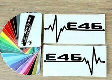 2x BMW E46 EKG Car Sticker Side Window Bumper Tailgate Vinyl Decal Adhesive