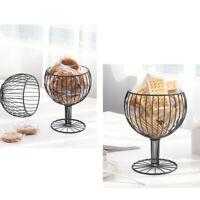 Fruit Vegetable Wine Glass Snack Storage Basket Tray Rack Stand Storage Holder